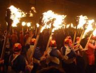 Scottish island pays fiery tribute to Viking past