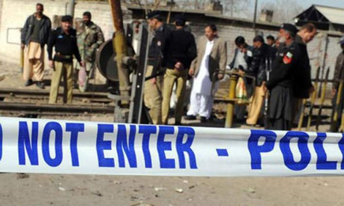 Four cops injured in blast