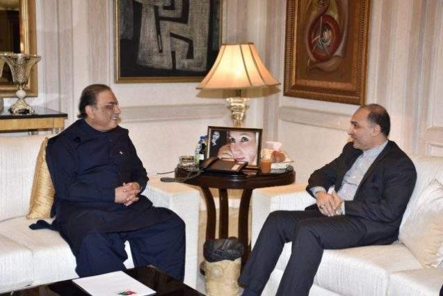 Iranian Consul calls on Asif Zardari