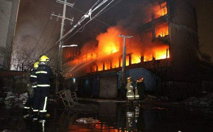 Seven killed in care home fire in China