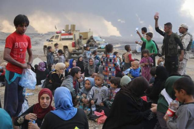 Thousands of Iraqis flee Mosul in five days as anti-terrorist operations intensify