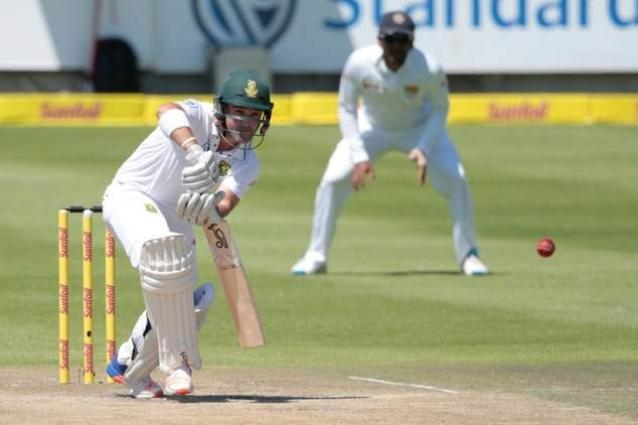 Elgar hits fifty as South Africa forge ahead