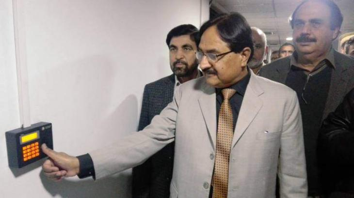 Biometric system installed in Radio Pakistan