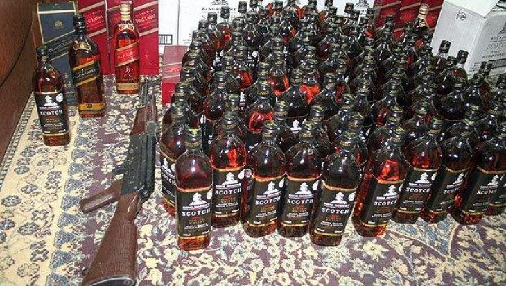 Liquor seized