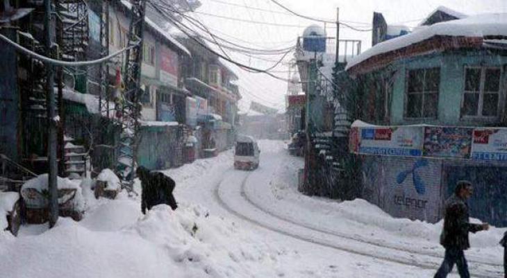 Murree and its suburban areas receives light snow fall, rain