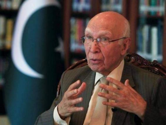 Member of European Parliament Afzal Khan calls on Sartaj Aziz
