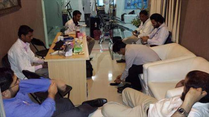 Blood donation camp at Qurban Lines