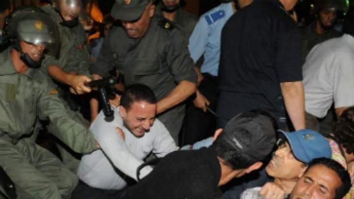 Police break up protest in northern Morocco