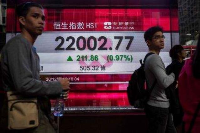 Hong Kong up, Shanghai flat at open