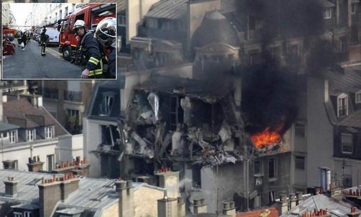 Five injured of Gas leakage blast in city
