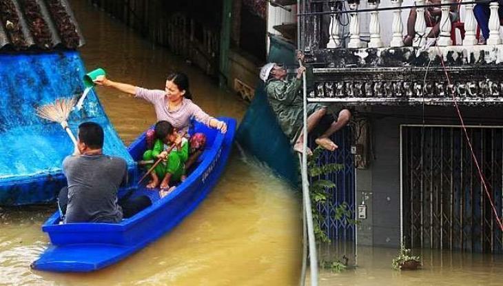 12 dead as torrential rains submerge Thai south