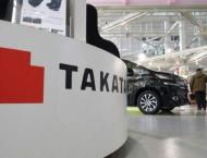 Takata shares plunge by a fifth on bankruptcy fears