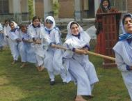 Govt. College for Women Gujar Khan wins Tug of war competition