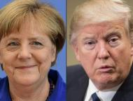 Trump hosts Merkel after snowstorm delay