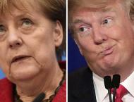 Trump welcomes Germany's Merkel to White House