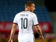 Podolski captains Germany on farewell against England