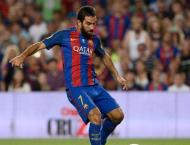 Football: Barca's Turan out for three weeks