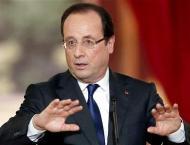 France's Hollande congratulates Macron on reaching presidential r ..