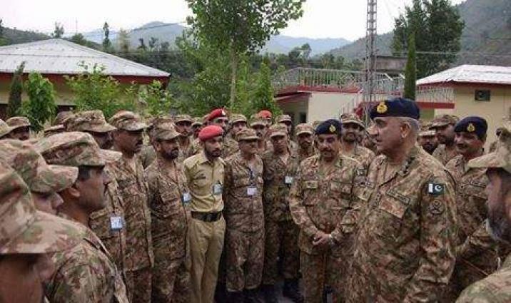 COAS visits troops along LoC in Muzaffarabad Sector