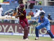 Cricket: Lewis ton carries Windies to thumping win