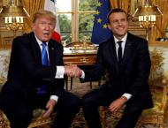 Trump says ties with France, Macron are 'unbreakable'
