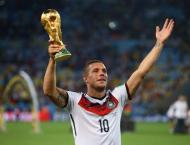 Podolski hits brace on J-League debut