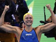 Swimming: Golden Sjostrom completes fly double at worlds