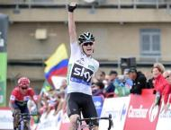 Cycling: Nibali wins Vuelta third stage, Froome takes overall lea ..