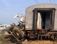 74 injured after 10 coaches of train derail in north India.