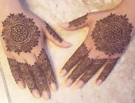 Sale and demand of bangles,henna at its peak
