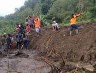 At least 28 killed in DR Congo landslide.