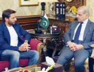 Shahid Afridi calls on Shehbaz Sharif