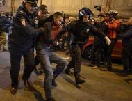 Russian police hold far-left activists in Saint Petersburg