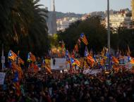 Mass protest in Barcelona demands freedom for Catalan leaders