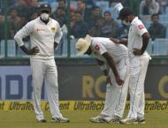 Sri Lanka's Lakmal vomits in smog-choked Delhi Test