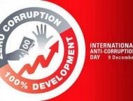 """""""Int'l Anti Corruption Day"""" to be observed on Dec 9"""