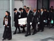 K-pop stars carry suicide singer's coffin