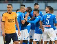 Football: Napoli cement top spot as Lazio's Immobile hits four