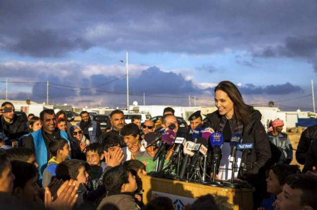 Angelina Jolie Brings Daughters Shiloh & Zahara To Syrian Refugee Camp