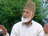 The Chairman of All Parties Hurriyat Conference, Syed Ali Gilani  ..