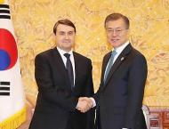 Leaders of S. Korea, Slovenia agree to boost bilateral cooperatio ..