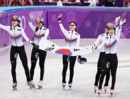 Olympic relay joy for South Korea, Christie crashes... again