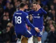 Hazard forced into central role as Giroud, Morata benched