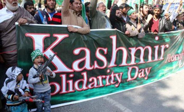 Pakistani premier pledges support for struggle in Kashmir