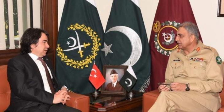 Image result for Iranian, Turkish Envoys call on Gen Qamar Javed Bajwa