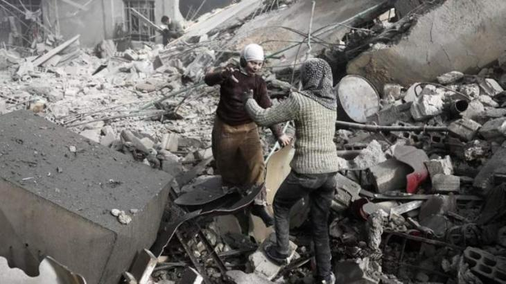 Syria War: 20 children among 77 killed in heavy bombardment