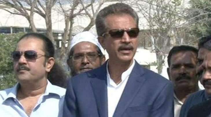 Mayor Of Karachi Wasim Akhtar Inaugurates Renovated School Building