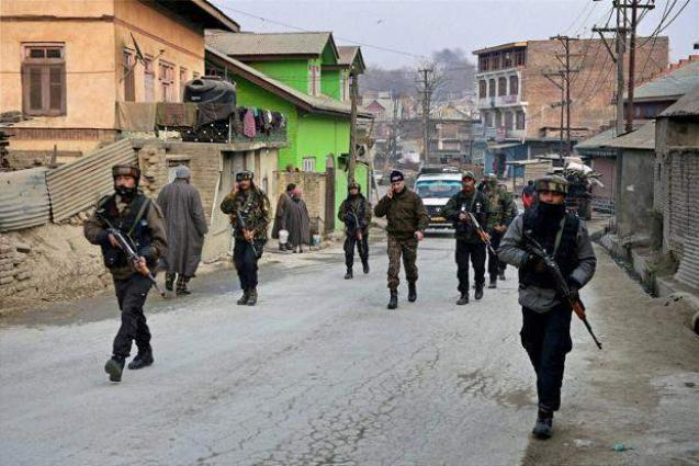 Image result for Indian troops conduct search operations in Srinagar, Badgam