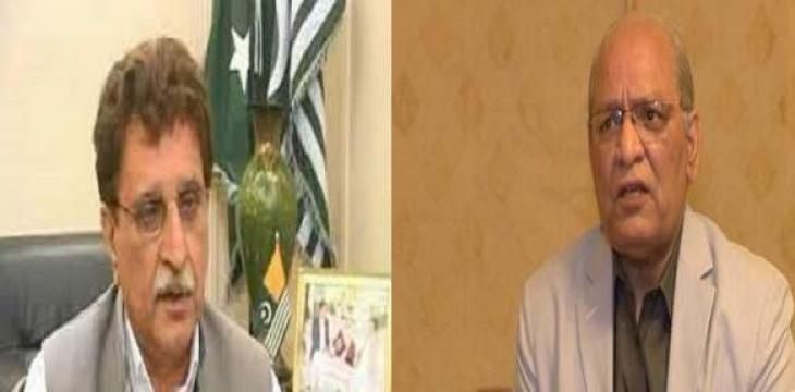 Prime Minister of Azad Jammu and Kashmir Farooq Haider Khan meets Senator Mushahidullah Khan