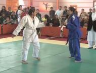 Black belt confers on Hala Sahar in Karate